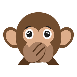 Monkey muzzle silent flat sticker