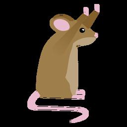 Cola de postura del ratón plana