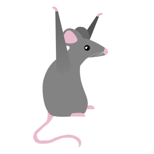 Mouse tail posture flat Transparent PNG