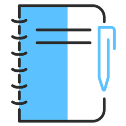 Trazo plano de lápiz de cuaderno