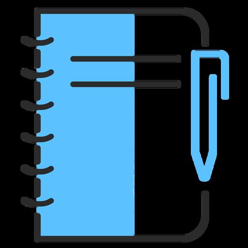 Curso de caneta caderno plana Transparent PNG