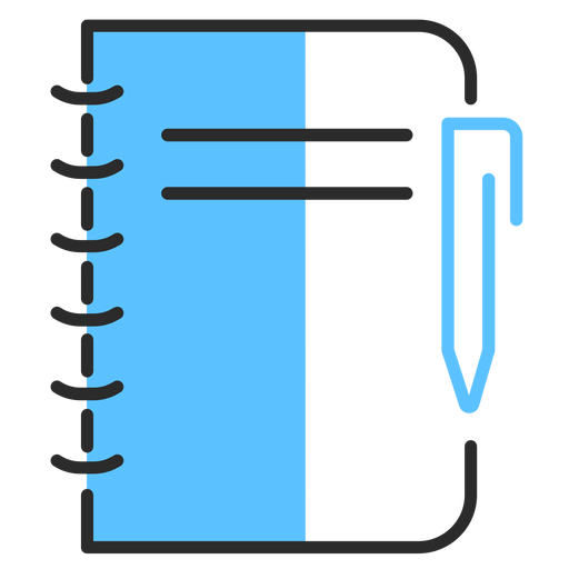 Notebook pen flat stroke Transparent PNG
