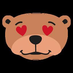 Focinho de lontra apaixonado adesivo plano