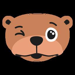 Otter muzzle glad flat sticker