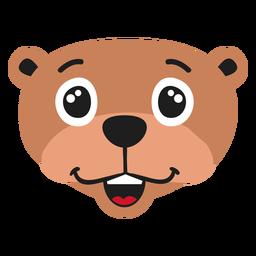 Otter muzzle happy flat sticker