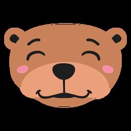 Otter muzzle joyful flat sticker