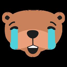 Otter muzzle sad flat sticker