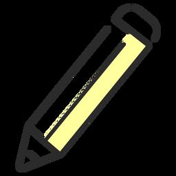Traço plano de lápis