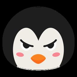 Adesivo plano de focinho de pinguim zangado