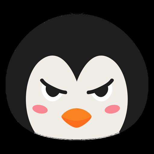 Autocolante de plana pinguim focinho com raiva Transparent PNG