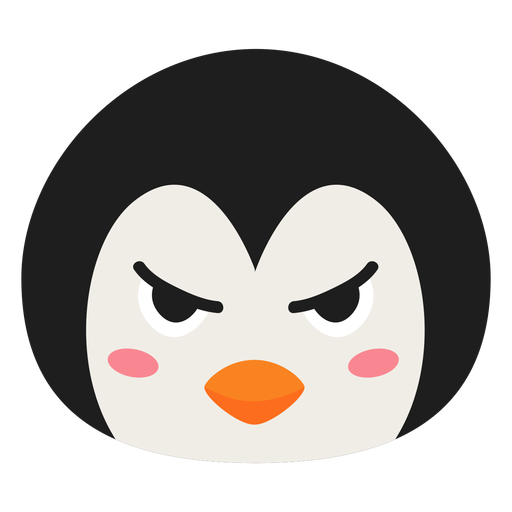 Pingüino hocico enojado pegatina plana Transparent PNG