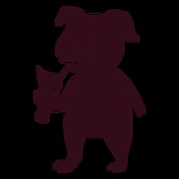 Silueta detallada de cóctel de cerdo