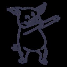 Golpe de baile de danza de cerdo