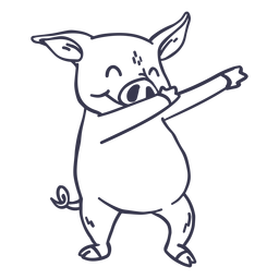 Schwein Tanz tanzen Schlaganfall