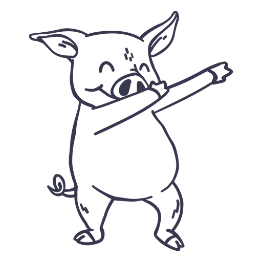 Pig dance dancing stroke