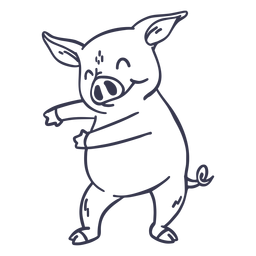 Schwein tanzen Tanz Schlaganfall