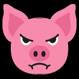 Bozal de cerdo enojado pegatina plana