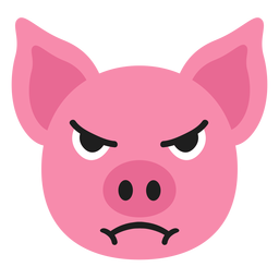 Pig muzzle angry flat sticker