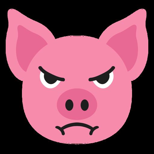 Pig muzzle angry flat sticker