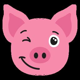 Focinho de porco feliz adesivo plana