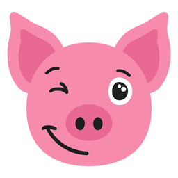 Pig muzzle glad flat sticker