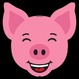 Adesivo plano feliz de focinho de porco