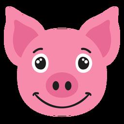 Bozal de cerdo alegre pegatina plana