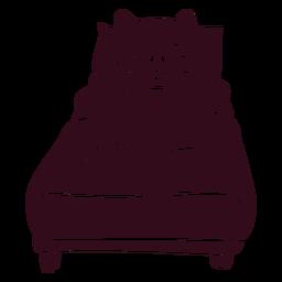 Silueta detallada de cama para dormir de cerdo