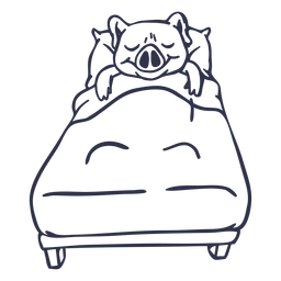 Curso de cama de porco dormir