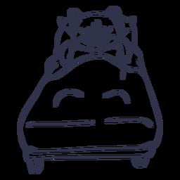 Schwein schlafen Bett Schlaganfall