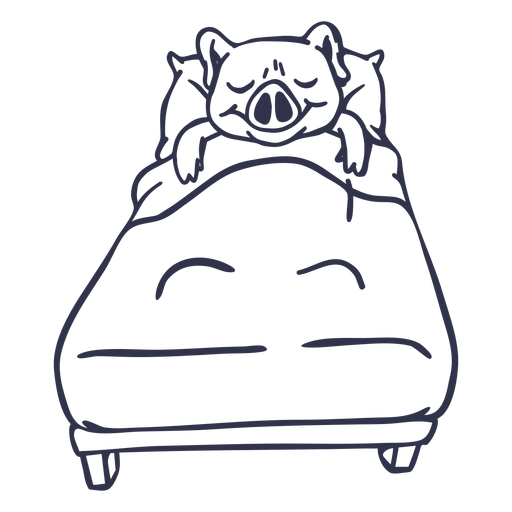 Golpe de cama para dormir de cerdo
