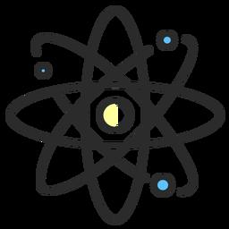 Trazo plano del modelo de átomo planetario