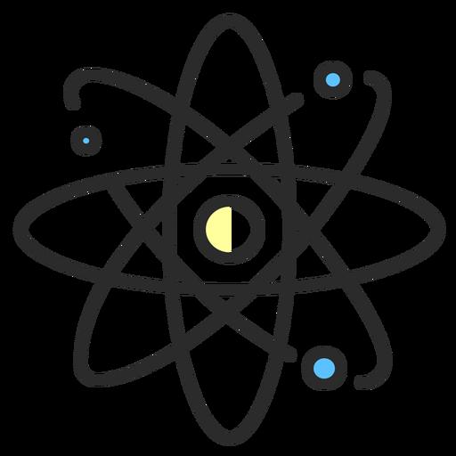 Planetary atom model flat stroke Transparent PNG