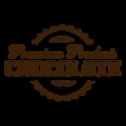 Adesivo de distintivo de chocolate de produtos premium