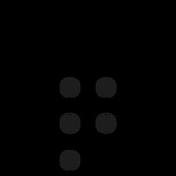 Q q letter dot spot stroke