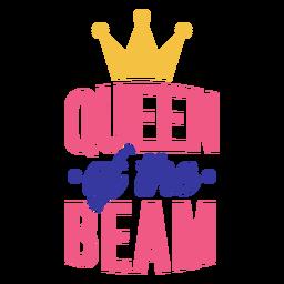 Autocolante com o emblema da coroa da rainha do feixe