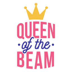 Queen of the beam crown badge sticker