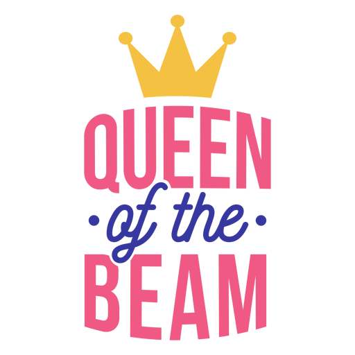 Etiqueta engomada de la insignia de la corona de la reina de la viga