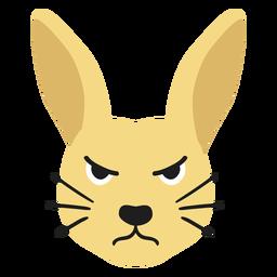 Conejo conejo hocico enojado pegatina plana