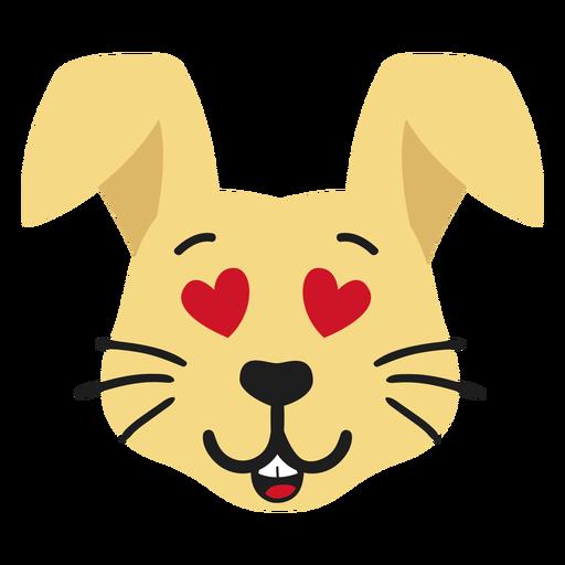Conejo conejito bozal enamorado pegatina plana Transparent PNG