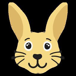 Rabbit bunny muzzle joyful flat sticker