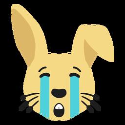 Autocolante de plana de coelho coelho focinho triste