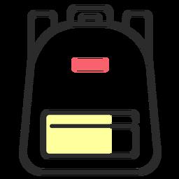 Mochila mochila bolsa trazo plano