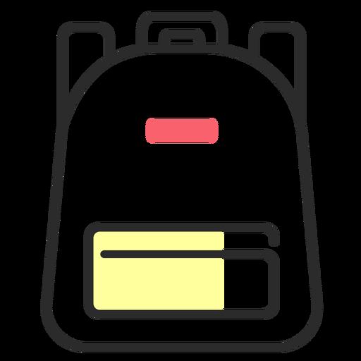 Rucksack knapsack bag flat stroke Transparent PNG