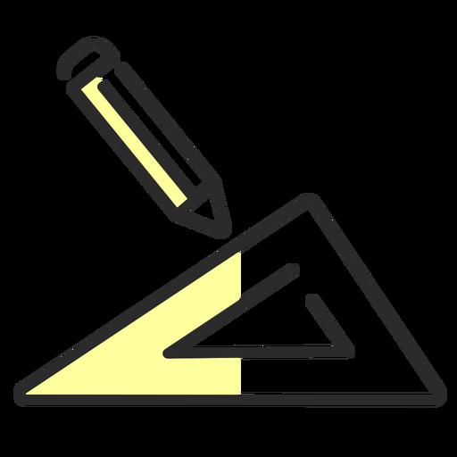 Ruler pencil flat stroke Transparent PNG