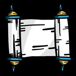 Scroll-Strich flach