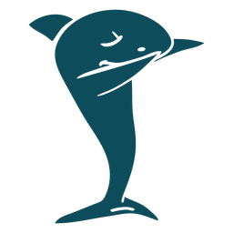 Danza de tiburón bailando silueta detallada