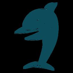 Silueta detallada de baile de baile de tiburón