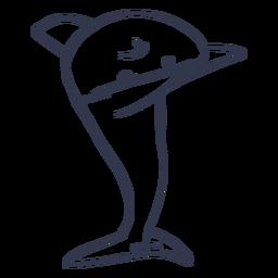 Shark dancing dance stroke
