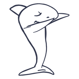Tiburón bailando baile